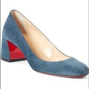 NWT Christian Louboutin Miss Sab Suede Pumps 38